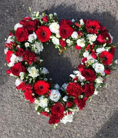 Red open heart