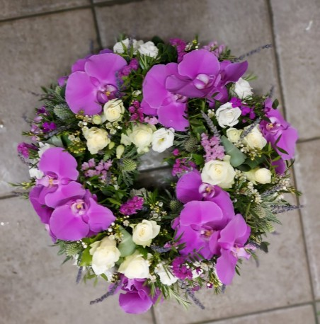 Orchid wreath ring