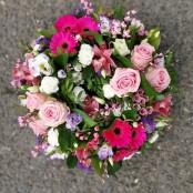 Pink textured wreath