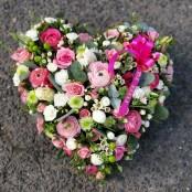 Pink textured heart