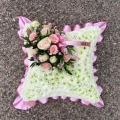 Pink based cushion